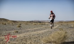 during the inaugural 2015 Ultra Trail Gobi Race, China.