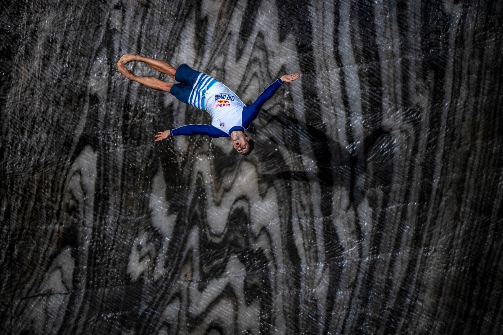 Constantin Popovici of Romania dives at Salina Turda, Romania on October 07, 2020. // Joerg Mitter / Red Bull Content Pool // SI202010120207 // Usage for editorial use only //