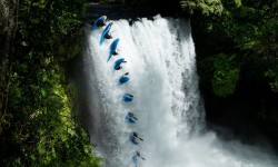 Aniol Serrasolses performs during the Red Bull Snow Kayak project in Pucon, Region de la Araucania, Chile on September 18, 2020. // SI202103270002 // Usage for editorial use only //
